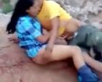 Caught fucking outdoor