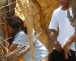 Couple caught in public park