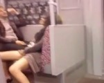 Horny babe in the subway