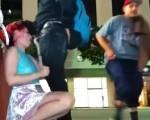 Slut bangs stranger in public