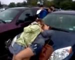 Drunk girls on parking lot