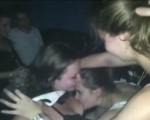 Girls go slutty in a nightclub