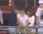 Double fingered at baseball game