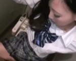 Schoolgirl fucked in toilet