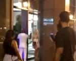 Slut busted sucking cock in public